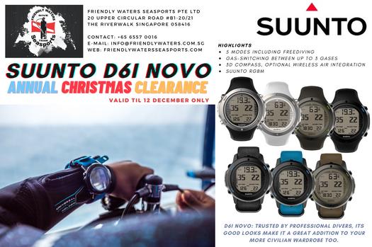 Annual Christmas Clearance - Suunto D6i Novo