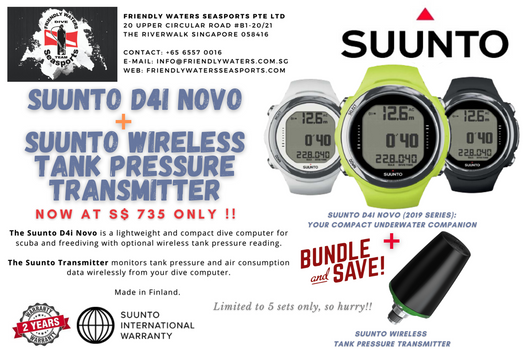 Suunto D4i Novo with Suunto Wireless Tank Pressure Transmitter