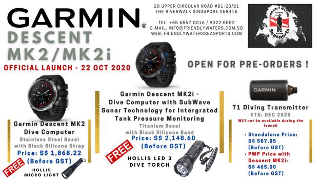 NEW - Garmin Descent MK2, MK2i & T1 Tran