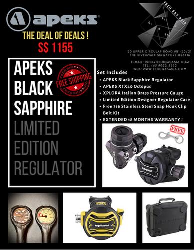 APEKS Black Sapphire Limited Edition Regulator