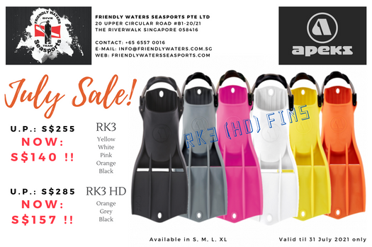 Apeks RK3 & RK3 HD - July Sale