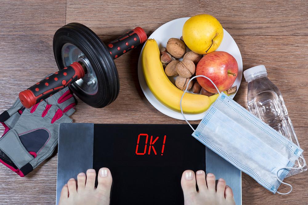 covid-19 ganho de peso, obesidade, quarentena
