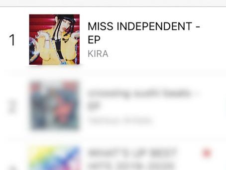 KIRA / NEW EP「MISS INDEPENDENT」がiTunes R&B/ソウル アルバムチャート 1位獲得!