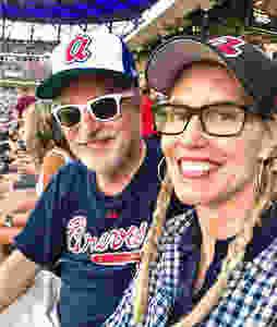 Couple at Atlanta Braves baseball game