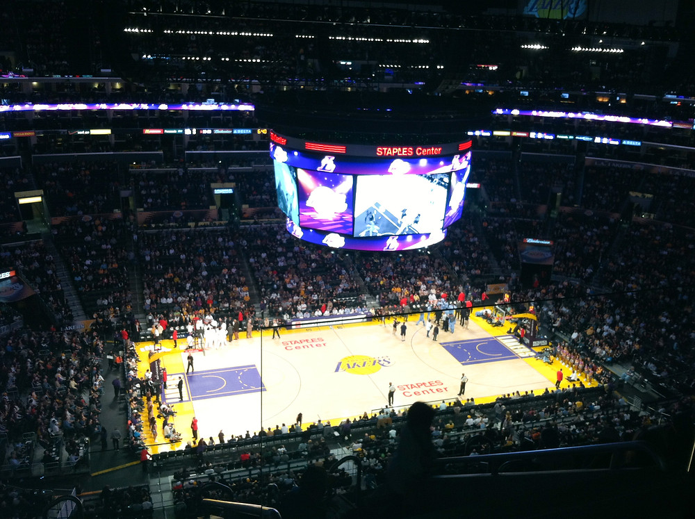 Staple Center Lakers game