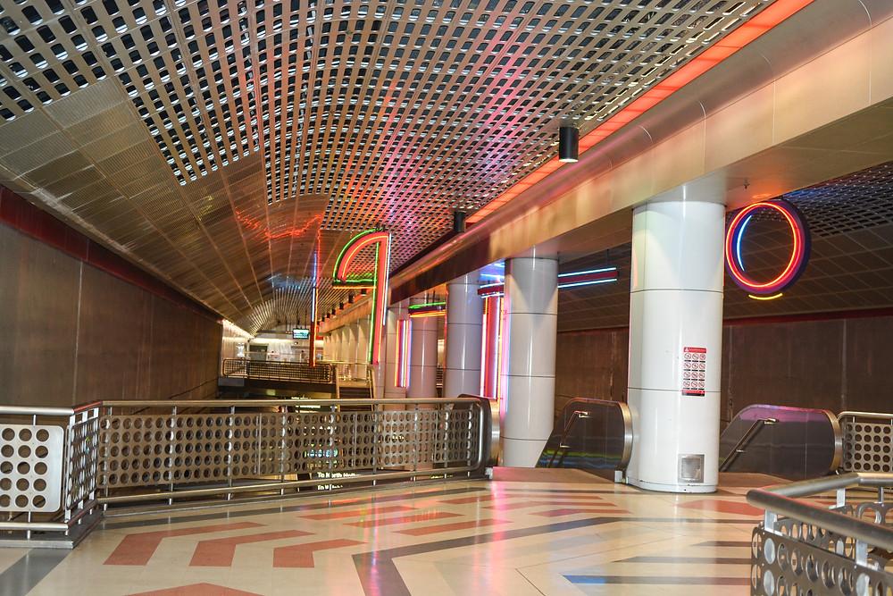 Los Angeles metro interior