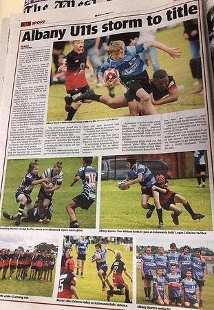 Under 10s in the paper.jpg