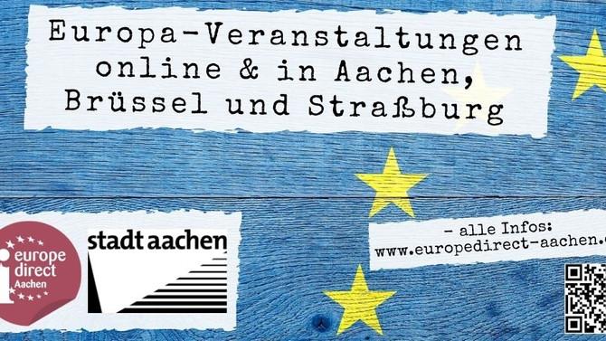 Europa-Veranstaltungen in Aachen, Brüssel und Straßburg