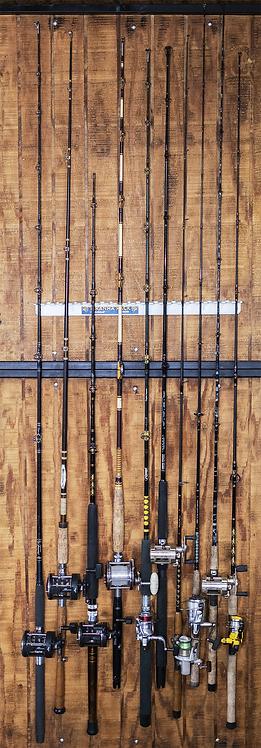 (ITEM#: FB022) Piranha Rod Rack Wall Mount : Fits 11-14 rods [Wholesale]