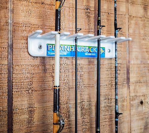 (Item#: FA008) Small Wall Mount Fishing Rod Rack