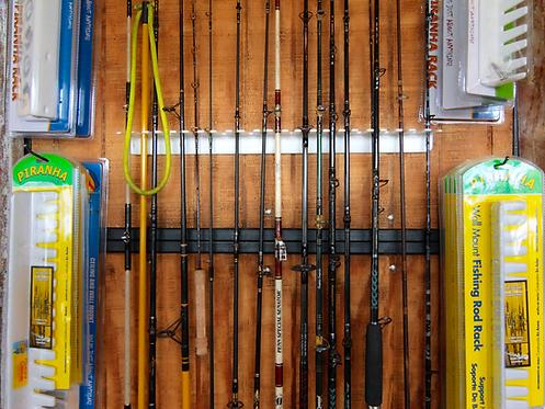 Piranha Rod Rack Wall Mount : Fits 11-14 rods (ITEM#: FB022)