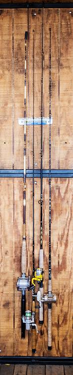 (Item#: FA008) Small Wall Mount Fishing Rod Rack [Wholesale]