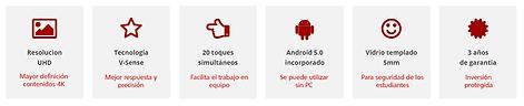 Especificaciones pantallas i3touch