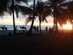 sunset horseback ride on the beach
