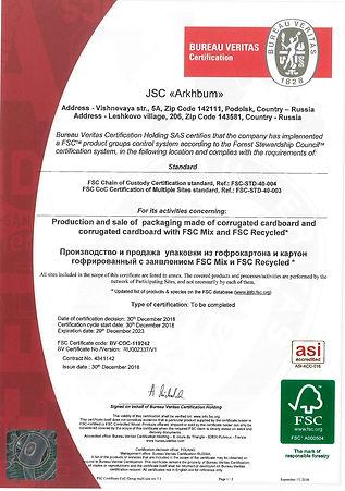 BV-COC-119242_FSC Certificate CoC Group