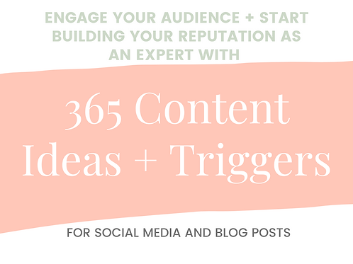 365 Content Ideas and Triggers for Social Media and Blog Posts