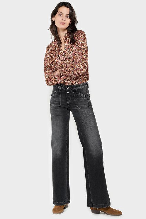 Lifi flare pulp taille haute jeans noir