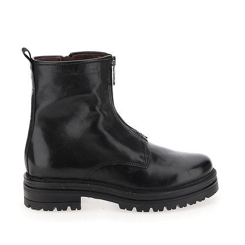 Boots en cuir zippées