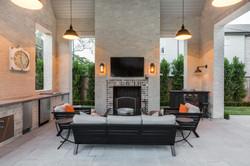 Kirksey Homes custom outdoor patio.