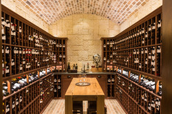 Kirksey Homes custom wine room.