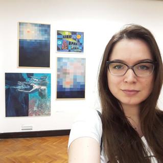 Exhibition selfie
