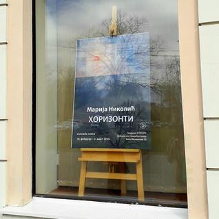 Easel in window