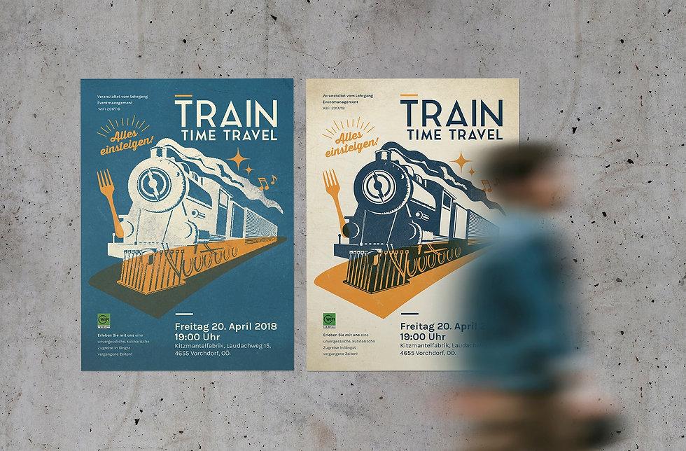 train-time-travel_Poster, Plakatgestaltung, design, grafikdesign