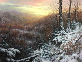Winter Sunset Over Grandfather Mountain