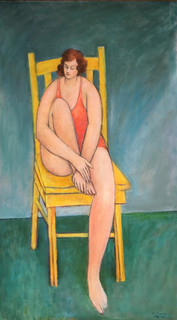Woman in Yellow Chair