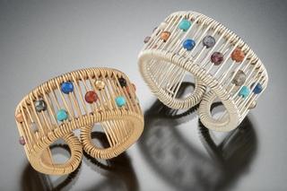Rainbow Circular Stone Ring