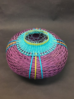 Purple Basket with Closed Top