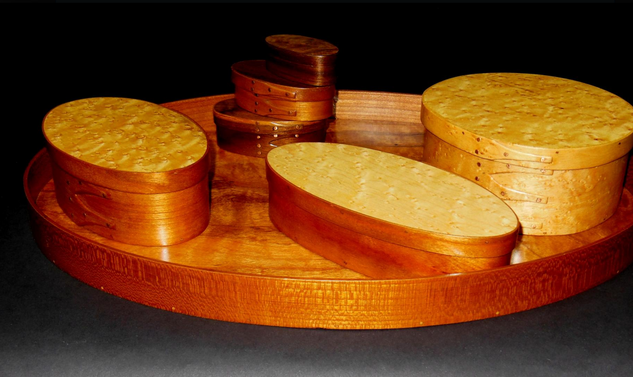 Wooden Tray & Boxes