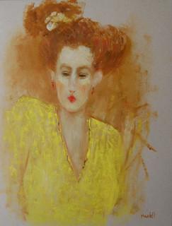 Astrid in Yellow Dress