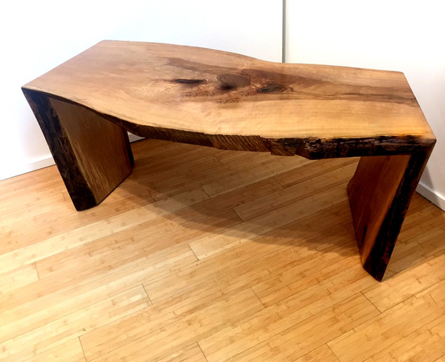 Large Folded Plank Coffee Table