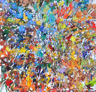 Debbie Arnold - Fantasy of Flowers - 30x30.JPG