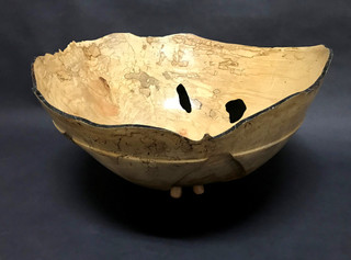 Spalted Maple Bowl with Legs (Alternate View)