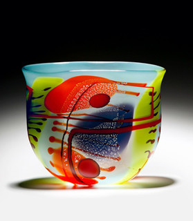 2 Sided Painted Bowl