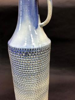Tall Blue Vase Close Up