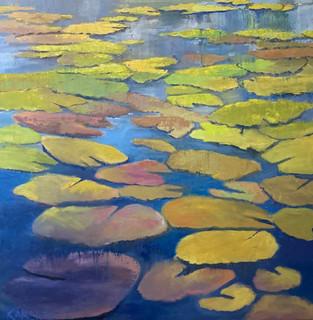 Mary Kamerer - Lily Pad Pond - 40x40.jpg