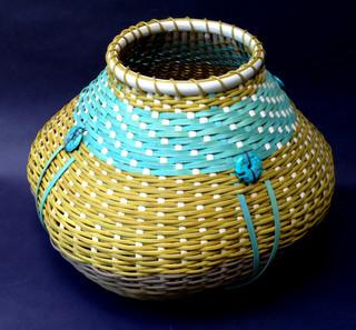 Cat Head Basket with Stones