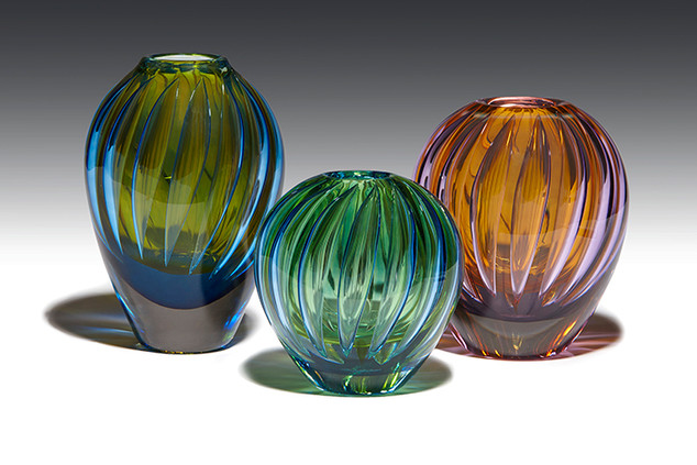 Optic Overlay Vases