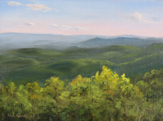 Sunset at Yadkin Valley Overlook
