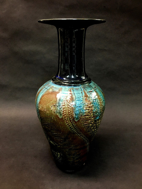 Tall Vase with Turquoise