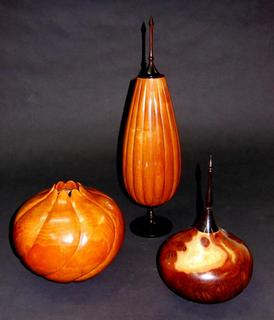 Turned & Carved Wood Vessels