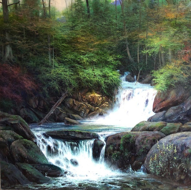 Appalachian Early Autumn Waterfall