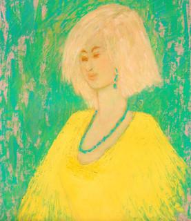 Yellow Fringed Dress