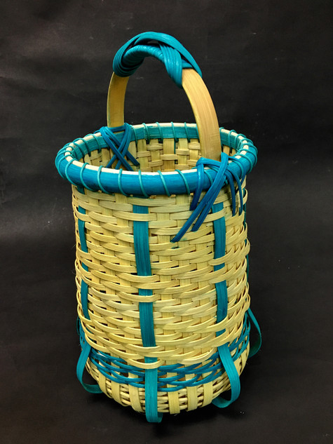 Turquoise-Yellow Tall Basket