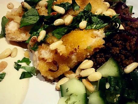 White Fish with Quinoa Salad & Tahini