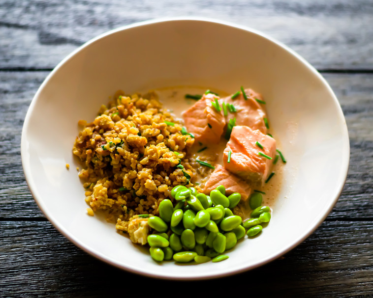 Coconut Miso Curry with Salmon