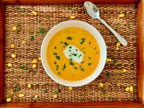 Creamy Corn & Tomato Soup